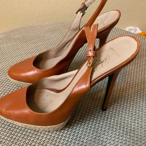 Donald J Pliner SEXY Couture Sling Back Heels Sz 7